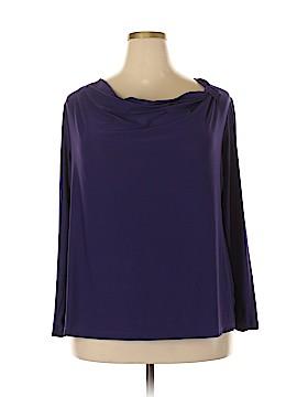 Roz & Ali Long Sleeve Top Size 2X (Plus)