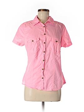 H&M L.O.G.G. Short Sleeve Button-Down Shirt Size 12