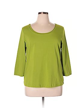 Sutton Studio 3/4 Sleeve T-Shirt Size 1X (Plus)