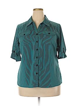 Kim Rogers Short Sleeve Button-Down Shirt Size 1X (Plus)
