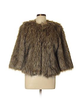 Stile Benetton Faux Fur Jacket Size 46 (EU)