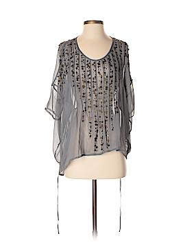 Gold Hawk Short Sleeve Silk Top Size XS