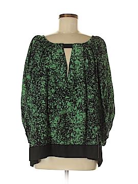Diane von Furstenberg 3/4 Sleeve Silk Top Size S