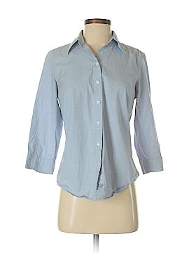 IZOD 3/4 Sleeve Button-Down Shirt Size M