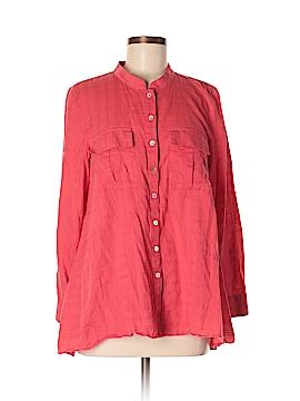 Fei Long Sleeve Button-Down Shirt Size M