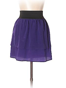 Aqua Silk Skirt Size L
