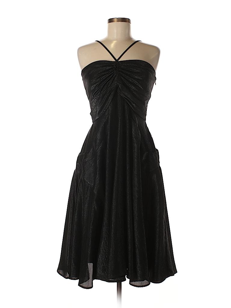 18fe9c172d3 Calvin Klein 100% Polyester Solid Black Cocktail Dress Size 8 - 81 ...