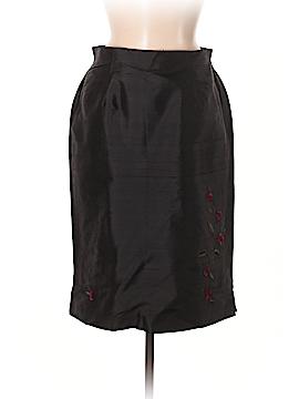 Petite Sophisticate Silk Skirt Size 8