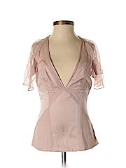 Catherine Malandrino Women Short Sleeve Silk Top Size P