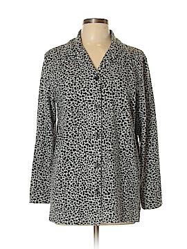 Liz & Co Long Sleeve Button-Down Shirt Size L