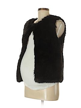 Topshop Maternity Faux Fur Vest Size 4 (Maternity)