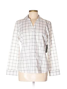 Covington Long Sleeve Button-Down Shirt Size L (Petite)