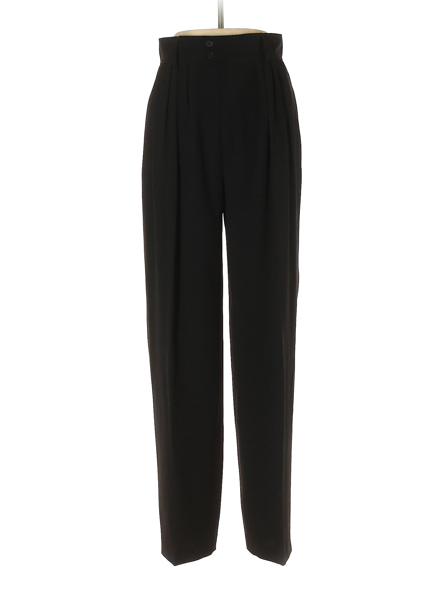 Yves saint laurent rive gauche solid black dress pants for Bureau yves saint laurent