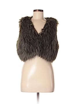 INC International Concepts Faux Fur Vest Size M (Petite)