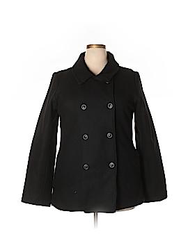Pale Wool Coat Size XXL