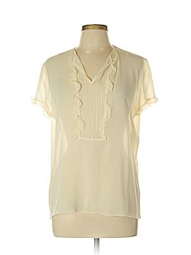 Piazza Sempione Short Sleeve Silk Top Size 46 (IT)