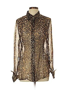 Pamela Dennis Long Sleeve Silk Top Size 12
