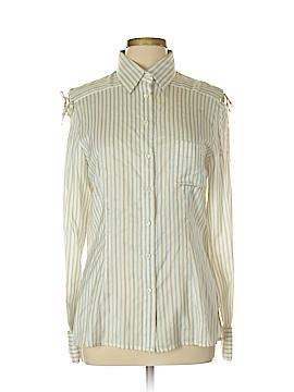 Carolina Herrera Long Sleeve Silk Top Size 12
