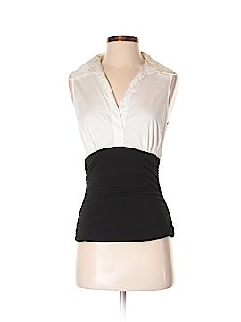 White House Black Market Sleeveless Button-Down Shirt Size S