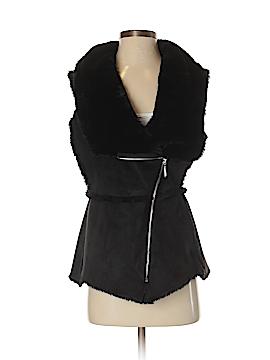 White House Black Market Faux Fur Vest Size XS