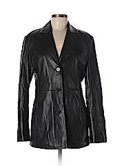 Nicole Miller Women Leather Jacket Size M
