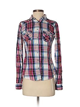 Garage Long Sleeve Button-Down Shirt Size S