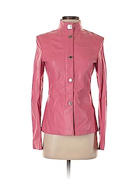 Adrienne Vittadini Leather Jacket Size 2