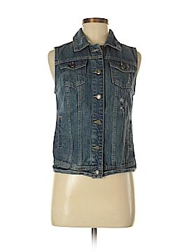 Mossimo Supply Co. Denim Vest Size S (Petite)