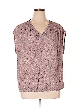 Lands' End Short Sleeve Blouse Size 16