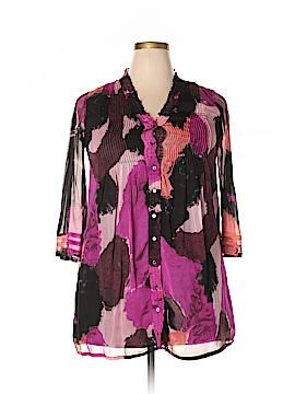 Diane von Furstenberg 3/4 Sleeve Blouse Size 2X (Plus)