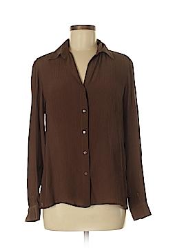 Emma James Long Sleeve Silk Top Size 8