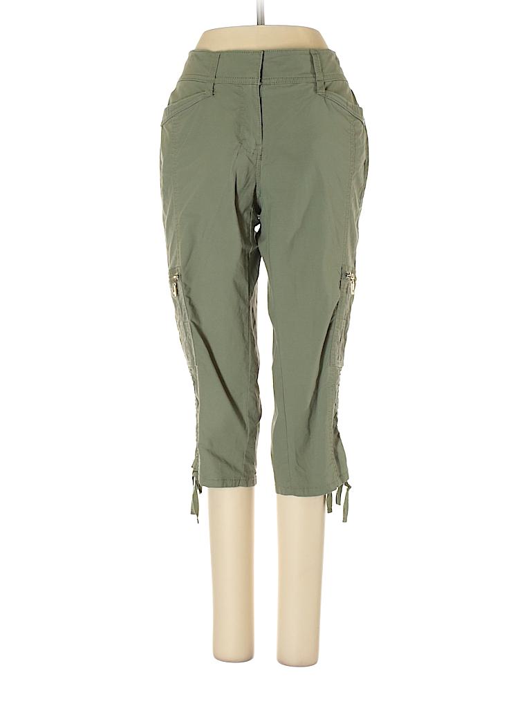 ae54747b9d White House Black Market Solid Dark Green Cargo Pants Size 0 - 76 ...