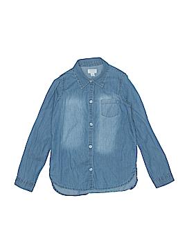 The Children's Place Long Sleeve Button-Down Shirt Size M (Kids)