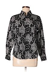 Foxcroft Women Long Sleeve Button-Down Shirt Size 10 (Petite)