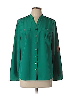 Elementz Long Sleeve Button-Down Shirt Size M