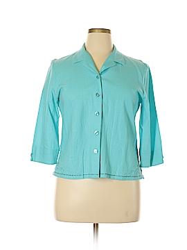 Sag Harbor Long Sleeve Button-Down Shirt Size 14 (Petite)