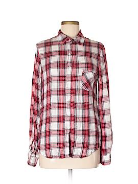 WAYF Long Sleeve Button-Down Shirt Size M