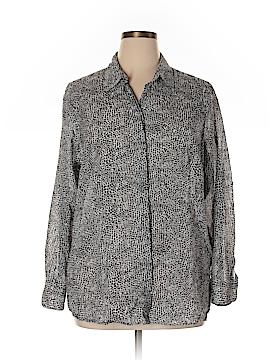 Coldwater Creek Long Sleeve Button-Down Shirt Size 2X (Plus)