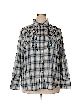 Seven7 Long Sleeve Button-Down Shirt Size 24 (Plus)