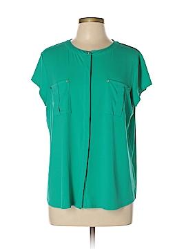 Dana Buchman Short Sleeve Button-Down Shirt Size XL