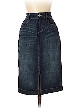 White House Black Market Denim Skirt Size 0