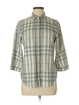 Burberry 3/4 Sleeve Button-Down Shirt Size M