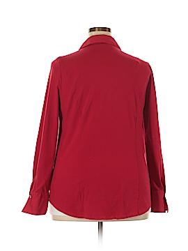 Simonton Says Long Sleeve Button-Down Shirt Size L