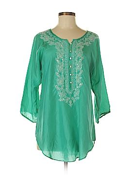 Calypso St. Barth 3/4 Sleeve Silk Top Size Med (1)