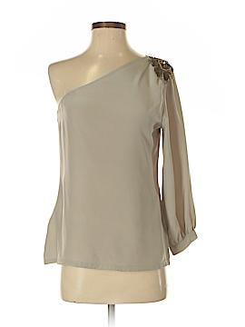 Karina Grimaldi Long Sleeve Silk Top Size S