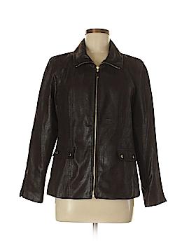 JM Collection Faux Leather Jacket Size 6