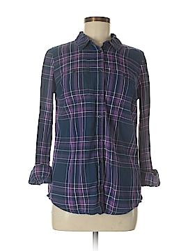 St. John's Bay Long Sleeve Button-Down Shirt Size S (Tall)