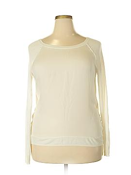 Vince. Long Sleeve Silk Top Size L