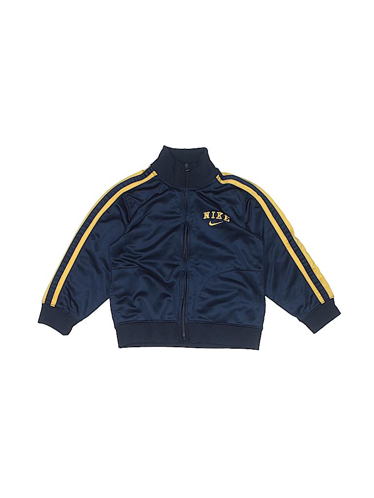 bd227c1f1581 Nike 100% Polyester Stripes Navy Blue Track Jacket Size 24 mo - 84 ...