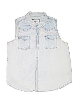 Arizona Jean Company Sleeveless Button-Down Shirt Size X-Large (Youth)